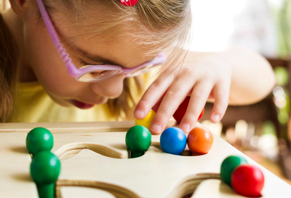 visually impaired child